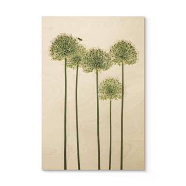 Houten Poster Kadam - Flora Ornaments