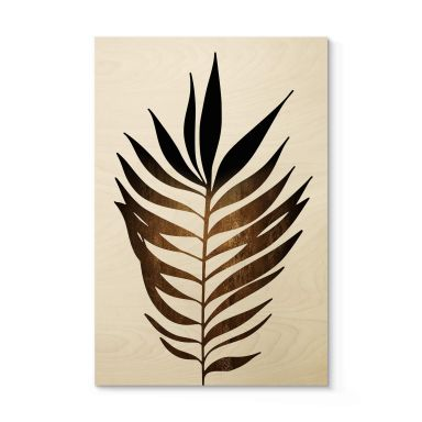 Houten Poster Kubistika - Golden Leaf