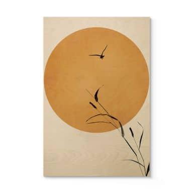 Houten Poster Kubistika - Sunrise Bird