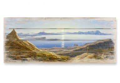 Holzbild Ahlborn - Küstenlandschaft am Golf von Neapel - Panorama