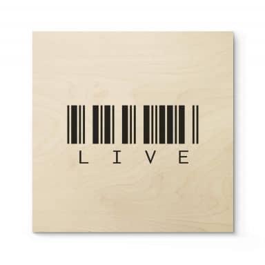 Stampa su legno - Barcode Live