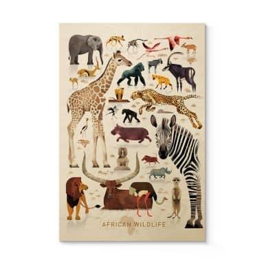 Houten Poster Braun – Africa