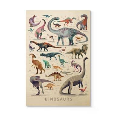 Houten Poster Braun - Dinosaurs