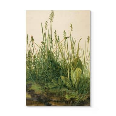 Holzposter Dürer - Das große Rasenstück