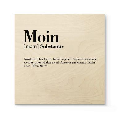 Holzbild Grammatik Moin