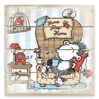 Holzbild sheepworld Home Sheep Home Music
