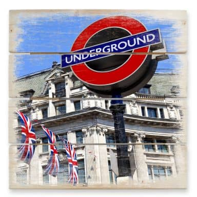 Holzbild London Underground