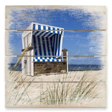 Holzbild Strandkorb