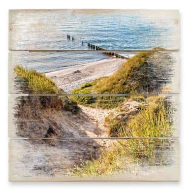 Tableau sur bois - Dunes de Sable
