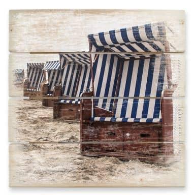 Holzbild Strandkorb auf Norderney
