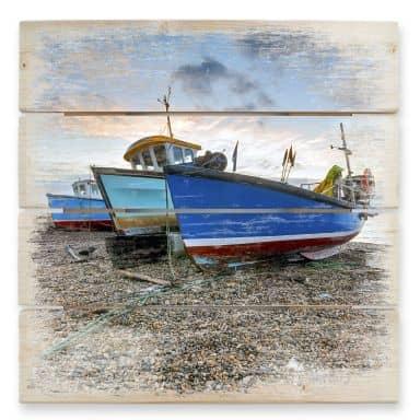 Holzbild Fischereiboote