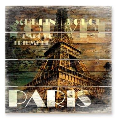Tableau sur bois - Paris