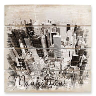 Manhattan - Wood Print