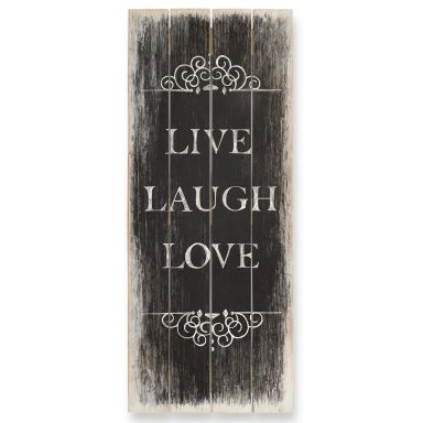 Houten Wanddecoratie Live Laugh Love 01 - Panorama