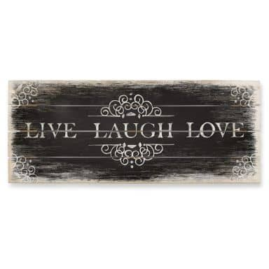 Houten Wanddecoratie Live Laugh Love 02 - Panorama