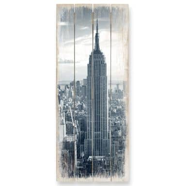 The Empire State Building - Panorama Wood Print