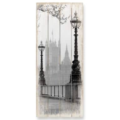 Holzbild Palace of Westminster - Panorama