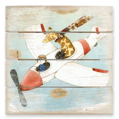 Holzbild Loske - Flugreise