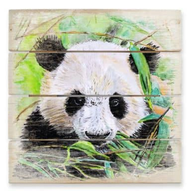 Holzbild Toetzke - Pandabär