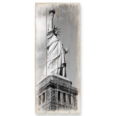 Holzbild Lady Liberty - Panorama