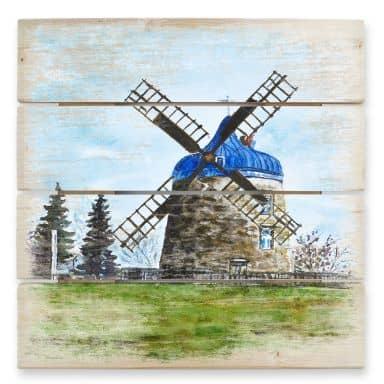 Holzbild Toetzke - Traditionelle Windmühle