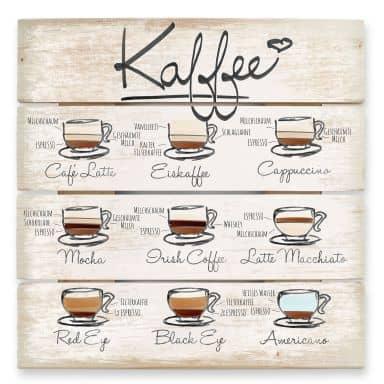 Holzbild Kaffeesorten