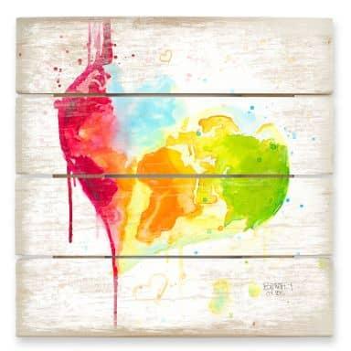 Holzbild Buttafly - Heart World