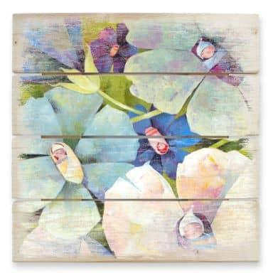 Holzbild Blanz - Blütenbabies