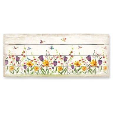 Holzbild Blanz - Blütenpoesie