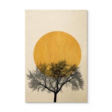 Houten Poster - Kubistika - Wintermorgen