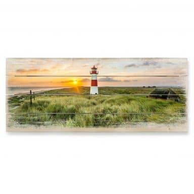Holzbild Leuchtturm auf Sylt