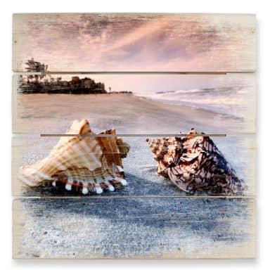 Holzbild Muschelparadies