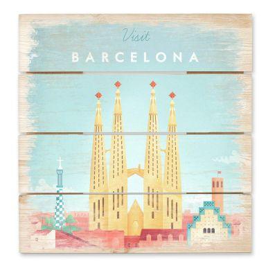 Holzbild Rivers - Barcelona