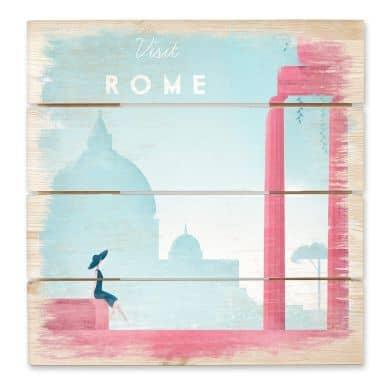 Holzbild Rivers - Rom