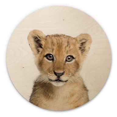 Wandcirkel Hout Sisi & Seb - Baby Lion