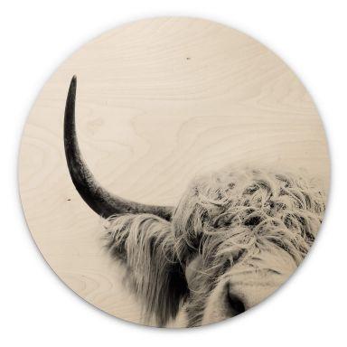 Wandcirkel Hout Sisi & Seb - Bull