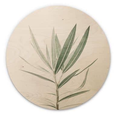 Wandcirkel Hout Sisi & Seb - Oleander