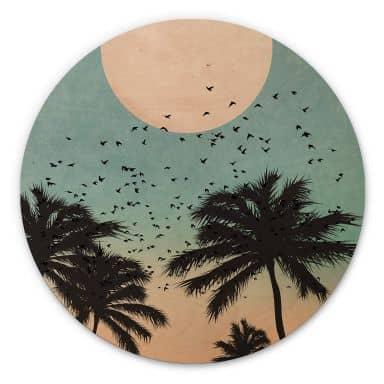 Hout rond - Kubistika - Sunset
