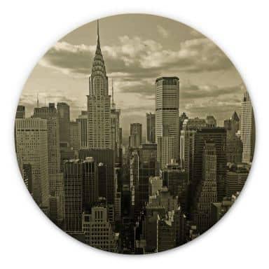 Holzbild Manhattan 2 - Rund