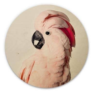 Hout rond - Sisi & Seb - Roze Kaketoe - rond