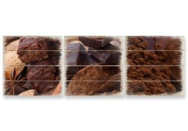 Houten Wanddecoratie Chocoladedroom 02 3-delige set