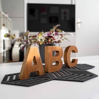 Lettere in legno da appoggio