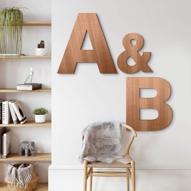 Wooden Letters Mahogany - Swiss