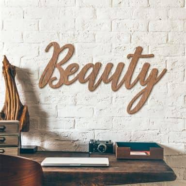 Scritta in mogano –  Beauty
