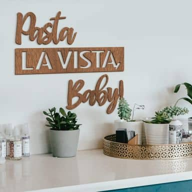 Wood deco Mahogany - Pasta la Vista, Baby