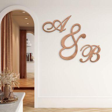 Decorative Letters - Calligraphic Style - Mahogany
