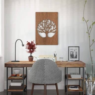 Dekobild Mahagoni - Baum des Lebens