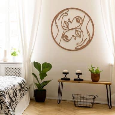 Houten decoratie - Hariri - Julie - mahoniefineer