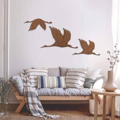 Wood - Birds - mahogany