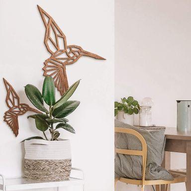 Hout – Origami Kolibrie – mahonie
